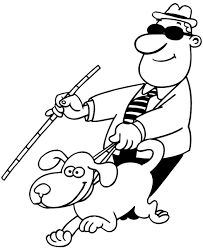 Blind Man Cane Signspecialist Com U2013 Beevault Decals Blind Man With Cane And Dog