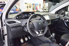 peugeot 208 2016 peugeot 208 gt line interior at 2016 bologna motor show indian
