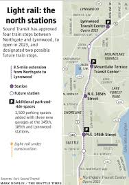 Seattle Rail Map by 4 North End Light Rail Stations Get Sound Transit U0027s Green Light