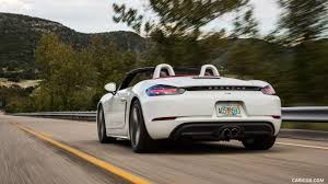 porsche 2017 white 2017 porsche 718 boxster s color white us spec rear three