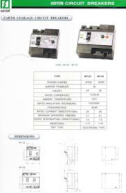 koten earth leakage electrical circuit breaker philippines