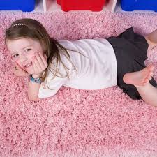 Kid Rug by Pink Thick Shaggy Kids Rug Ontario Kukoon