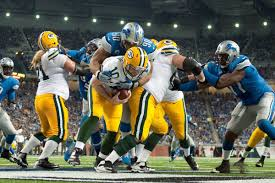 packers vs lions score 40 10 detroit takes out rodgers less