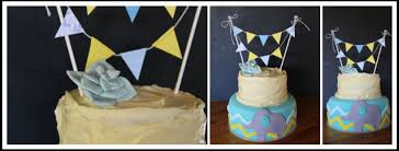 rustic baby boy shower cake with elephant detail u2013 bespoke