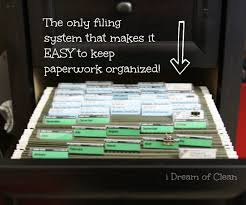 how to organize a file cabinet system a simple way to organize files at home