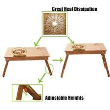 Laptop Folding Desk by Laptop Wooden Desk Adjustable Table 100 Bamboo Kodvavi Shopping