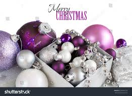 silver purple ornaments border on stock photo 364519724
