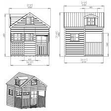 mercia 7 x 7 double storey wooden playhouse wendy house with