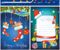 christmas greeting cards vector set 2 vector graphics blog