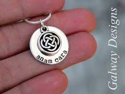 anam cara symbol dainty sted necklace anam cara gaelic my