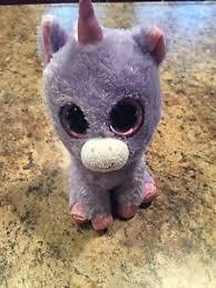 ty beanie boo boos rainbow purple unicorn 6