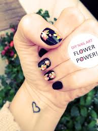 diy floral nail art hand painted flower accent nails love