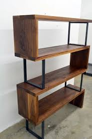 walnut wood and steel ribbon bookshelf 2 000 00 via etsy diy