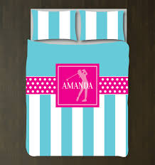 Polka Dot Bed Sets by Personalized Golf Themed Bedding For Girls Duvet Cover U2013 Shop