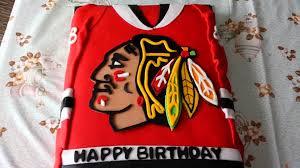 Hockey Cake Decorations Nhl Chicago Blackhawks Hockey Jersey Cake Youtube