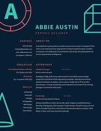 graphic design resume blue coral graphic outline illustrations graphic design resume