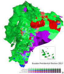 National Election Results Map by Ecuadorian Maps Thread
