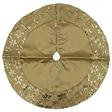 gold tree skirt christmas decoration miniature tree skirt metallic