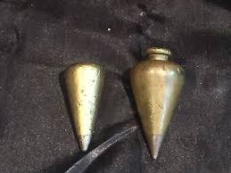 solid brass ls antique vintage antique solid brass plumb bobs lot of 2 and leather case