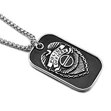 titanium dog tag necklace images Hip punk america usa police officer symbol pendants necklaces cool jpg