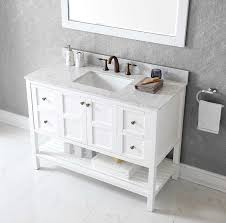 Black Bathroom Vanity With White Marble Top by Virtu Es 30048 Wmsq Wh Winterfell Single Bathroom Vanity Cabinet