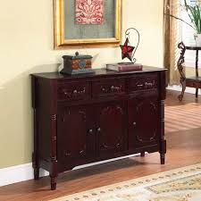 Apothecary Console Table Cherry Finish Traditional Console Table Free Shipping Today