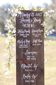 wedding program sign 7 useful ceremony accessories to for rustic weddings