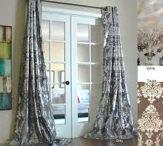 damask kitchen curtains amazon com amirah grommet with intricate damask silver metallic