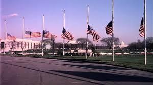 Flag Half Mass Today American Flags Flying At Half Mast At Base Of Washington Monument