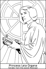 star wars princess leia coloring pages princess leia organa