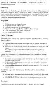 accounts payable supervisor resume accounts payable manager