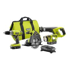 Home Depot Deal Of The Day by Ryobi 18 Volt One Lithium Ion Cordless Super Combo Kit 4 Piece