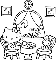 kitty coloring pages for kids cat spring with page itgod me