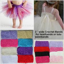 crochet bands 4 8 crochet headbands 3 wide for tutu waistbands