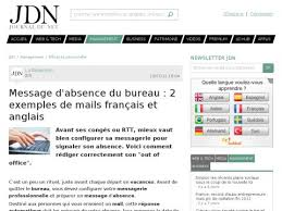 message d absence du bureau message d absence du bureau 2 exemples de mails français et