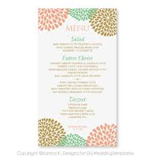 wedding menu cards template wedding menu card template instantly edit yourself