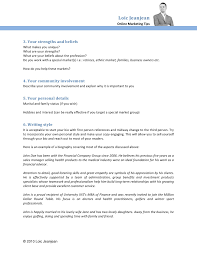 How To Write A Sales Resume How To Write An Effective Biography For Your Financial Website