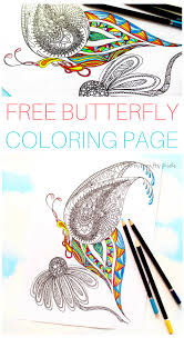 detailed butterfly coloring page arty crafty kids