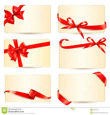 gift card free set of beautiful gift cards with gift bows wit royalty free