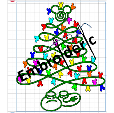 mister mouse christmas tree ears lights string svg dxf png file