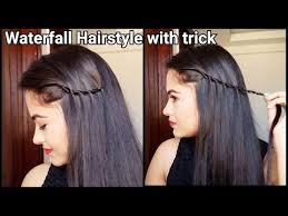 easy indian hairstyles for school easy trick to waterfall hairstyle hairstyles for medium to long