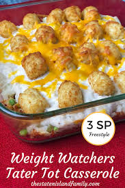 cuisine weight watchers weight watchers tater tot casserole only 3 smartpoints freestyle