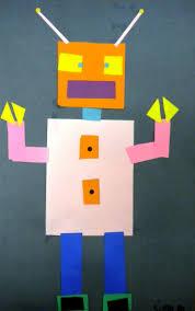 geometric shape robots kindergarten first grade math for first