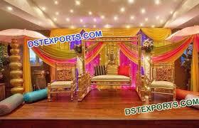 muslim wedding decorations muslim wedding mehandi stage decoration mandap exporters