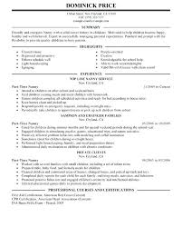 nanny resume template baby sitter resume 5 nanny resume templates resume