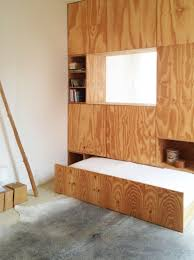 plywood cabinet meesvisser architecture with a practical mind