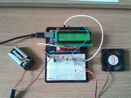 3 phase fan controller arduino fan speed controlled by temperature test setup wiring