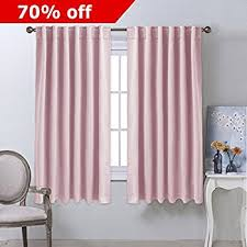 Draperies For Living Room Amazon Com Blackout Room Darkening Curtain Panel Baby Pink