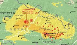 Map Nepal India by Nepal Earthquake Relief Help