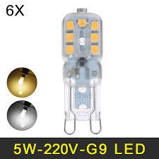 mini led g9 lamp 5w smd2835 g9 led bulb chandelier led light 220v